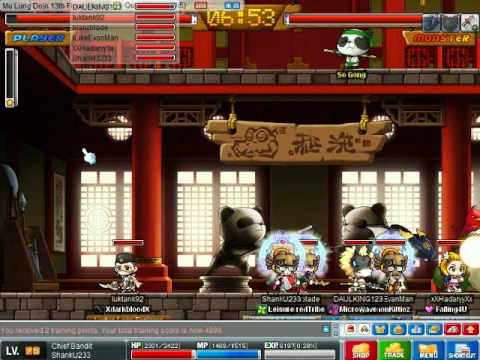 Maplestory Level 75 Dexless Chief Bandit Dojo Run (Pre-Big Bang)
