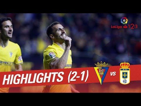 Resumen de Cádiz CF vs Real Oviedo (2-1)