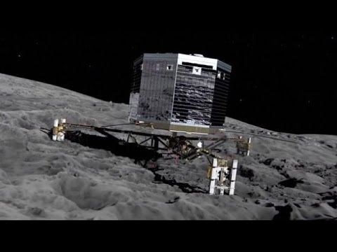 Space probe Philae phones home from comet - then falls asleep