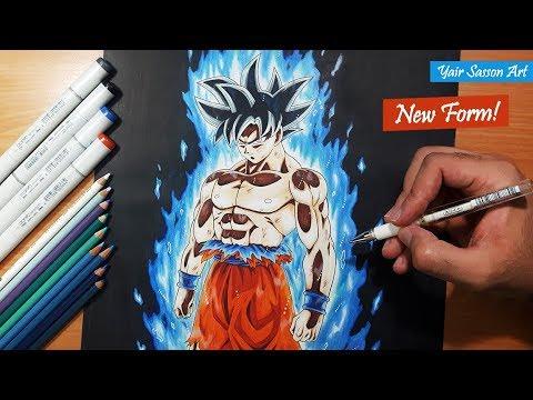 Drawing goku 39 s new form ultra instinct youtube - Goku ultra instinct sketch ...