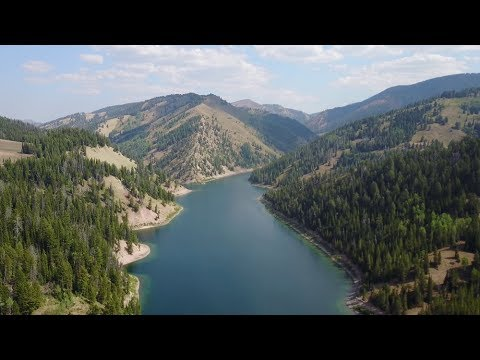 Alpine Lake Fishing For Trout