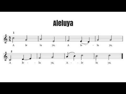 Aleluya - Canon a dos voces
