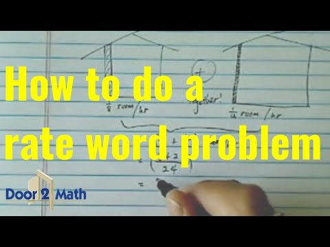 Word Problem with Rate of Completion: Anthony can paint a room in ...