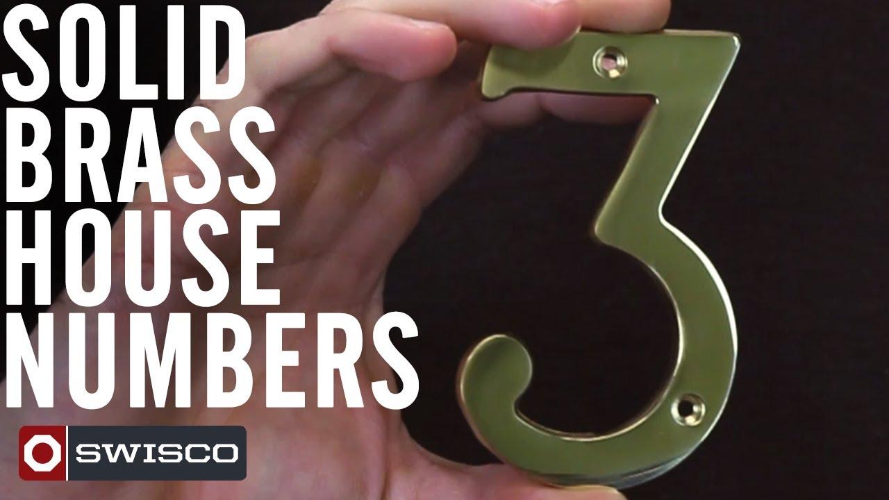 Marvelous Solid Brass Door Numbers #29   Traditional Brass Front Door  Numerals