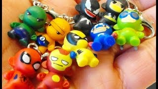 Kidrobot x MARVEL super heroes ZIPPER PULLS unboxing video...awesome 3/4 inch micro figures!!!