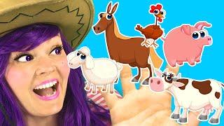 Familia Dedos de Animales de La Granja | Canciones Infantiles Populares En Español con Lily Fresh