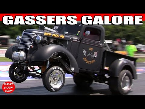 Period Correct Gasser Cars Nostalgia Drag Racing Video