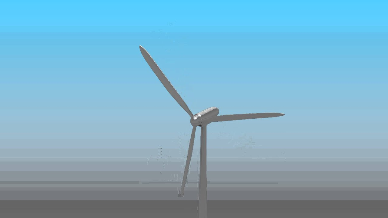 modern windmill 3d model animation youtube
