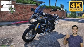 GTA 5 : FIRST LONG RIDE ON MY BMW GS1200 🔥