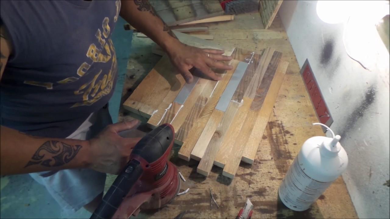 Orologio da parete in legno e alluminio riciclato fai da te homemade youtube - Rivestire parete con legno ...