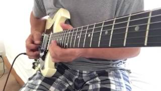 I tried playing with George Harrison himself guiter solo. サムシン...