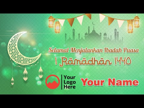 Tutorial Ucapan Ramadhan / Idul Fitri Photoshop Simpel Menggunakan Freepik | FREE TEMPLATE
