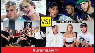 Jake Paul , Logan Paul & Team 10 (vs) RiceGum , Alissa Violet , FaZe Banks & Clout Gang! #DramaAlert
