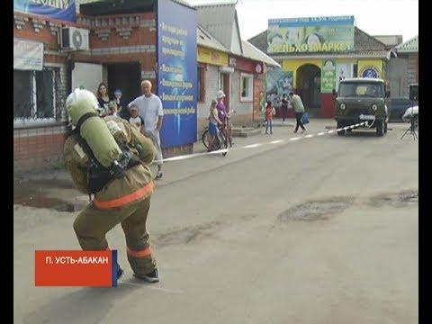 В Усть-Абакане пожарные состязались в силовом многоборье