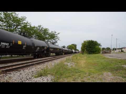 CN freight train East Lansing Michigan July 26 2017