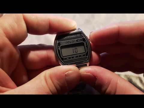Часы  Электроника 53  -  инструкция к часам и настройка ЦНХ