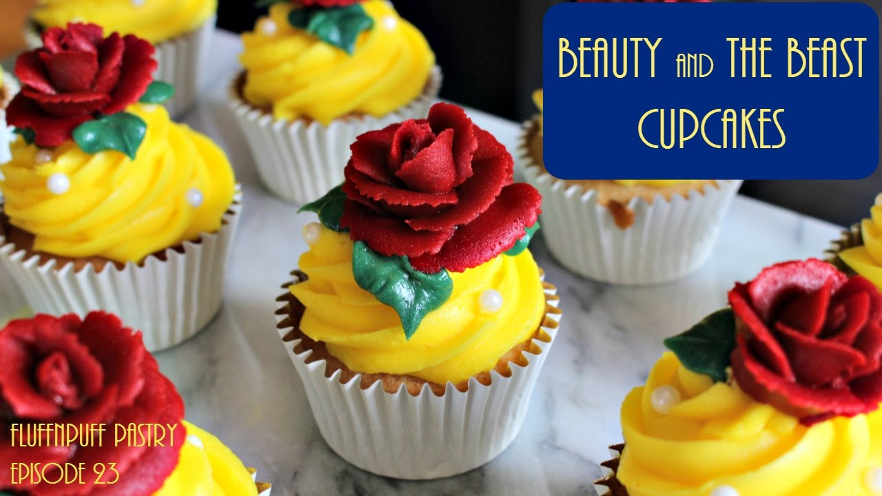 Beauty And The Beast Cupcakes Fluffnpuff Pastry Youtube