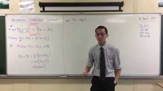 Factorising Algebraic Expressions (1 of 2: All Positives)