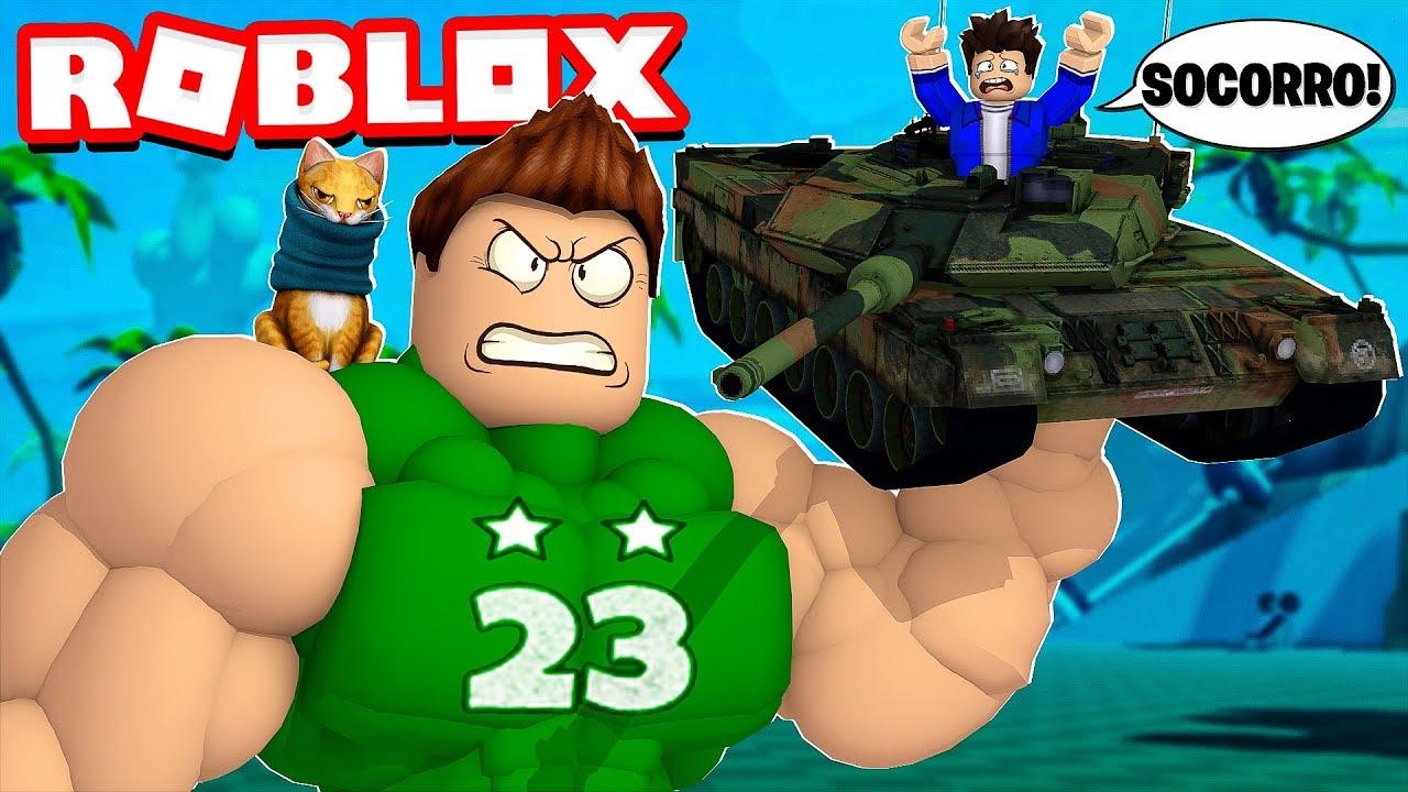 Nos Convertimos En El Gigante Mas Fuerte De Roblox Roblox