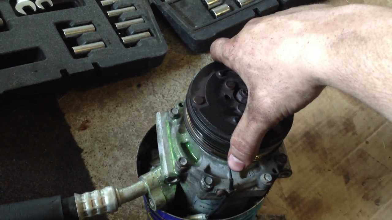 A/C Compressor Repair and Refrigerant Recharge