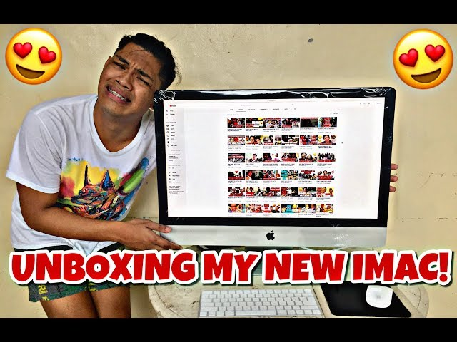 UNBOXING MY NEW IMAC!!!