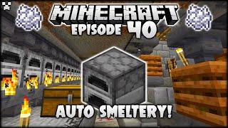 AUTOMATIC MINECRAFT SMELTERY & BONEMEAL MEGA FARM!   Python Plays Minecraft Survival [Episode 40]