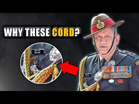 Why Do Indian Military Officers Wear Lanyards On Their Shoulders? Indian Military Cord