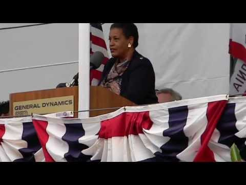 Myrlie Evers-Williams speech at USNS Medgar Evers Ship Christening Ceremony San Diego CA