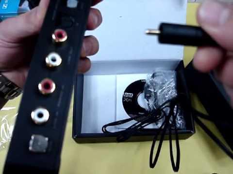 CREATIVE Sound Blaster X-Fi HD USB sound card unboxing