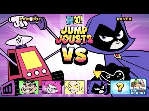 Teen Titans Go: Jump Jousts - Here Comes The Pain... Bot! (CN Games)