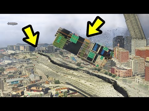 GTA 5 - The BIGGEST Earthquake EVER!! - YouTube