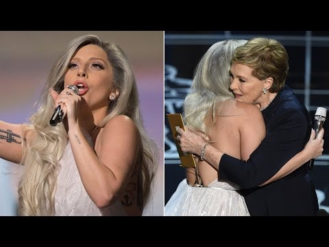 Internet reacts to Lady Gaga's 'Sound of Music,' Julie Andrews' hug at Oscars 2015