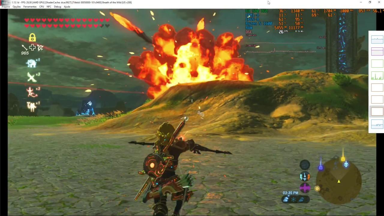 The Legend of Zelda Breath of the Wild 1080p CEMU 1 13 1 Ryzen 5 1600 + RX  580 #test2