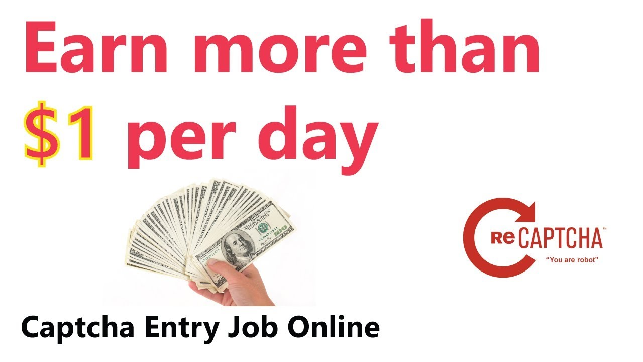 Earn $1 Per Day By Doing Captcha Entry Job | How To Earn Money Online |  Online Job | Hindi Tutorial