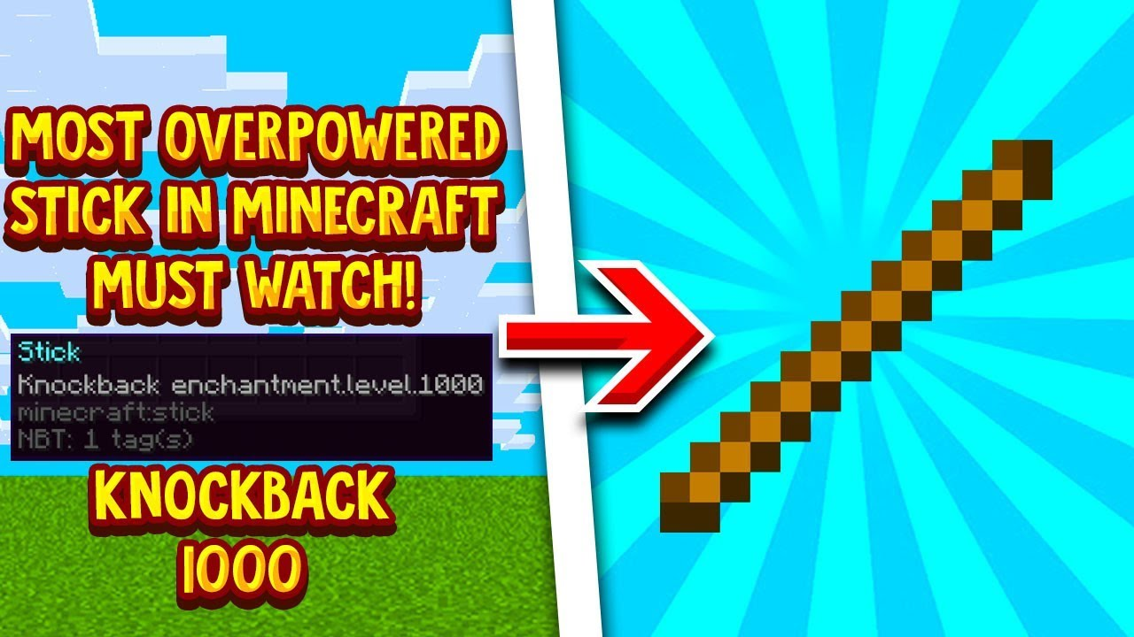 How To Get A Knockback 122,122 Stick In Minecraft 122.1224! (201229) - YouTube