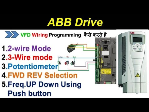 abb drive parameter setting | 2/3-Wire Mode | potentiometer | FWD REV on