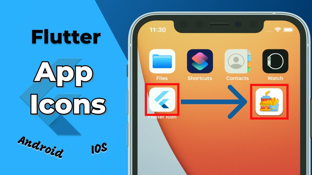 How to Add App icons in Flutter   Automatic & Manual Way