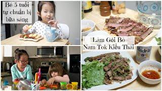 Cuối Tuần Làm Gỏi Bò Kiểu Thái ❅ Đến Chơi Nhà Bạn ❆ Donut Tự Chuẩn Bị Breakfast | mattalehang