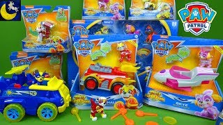 Paw Patrol Mighty Pups Super Paws Toys Sneak Peek Collection Fire Truck Episode Toy Video for Kids