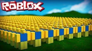 Roblox Adventures - DENIS & ALEX SURVIVE AN ARMY OF ROBLOX NOOBS! (Noob Invasion)