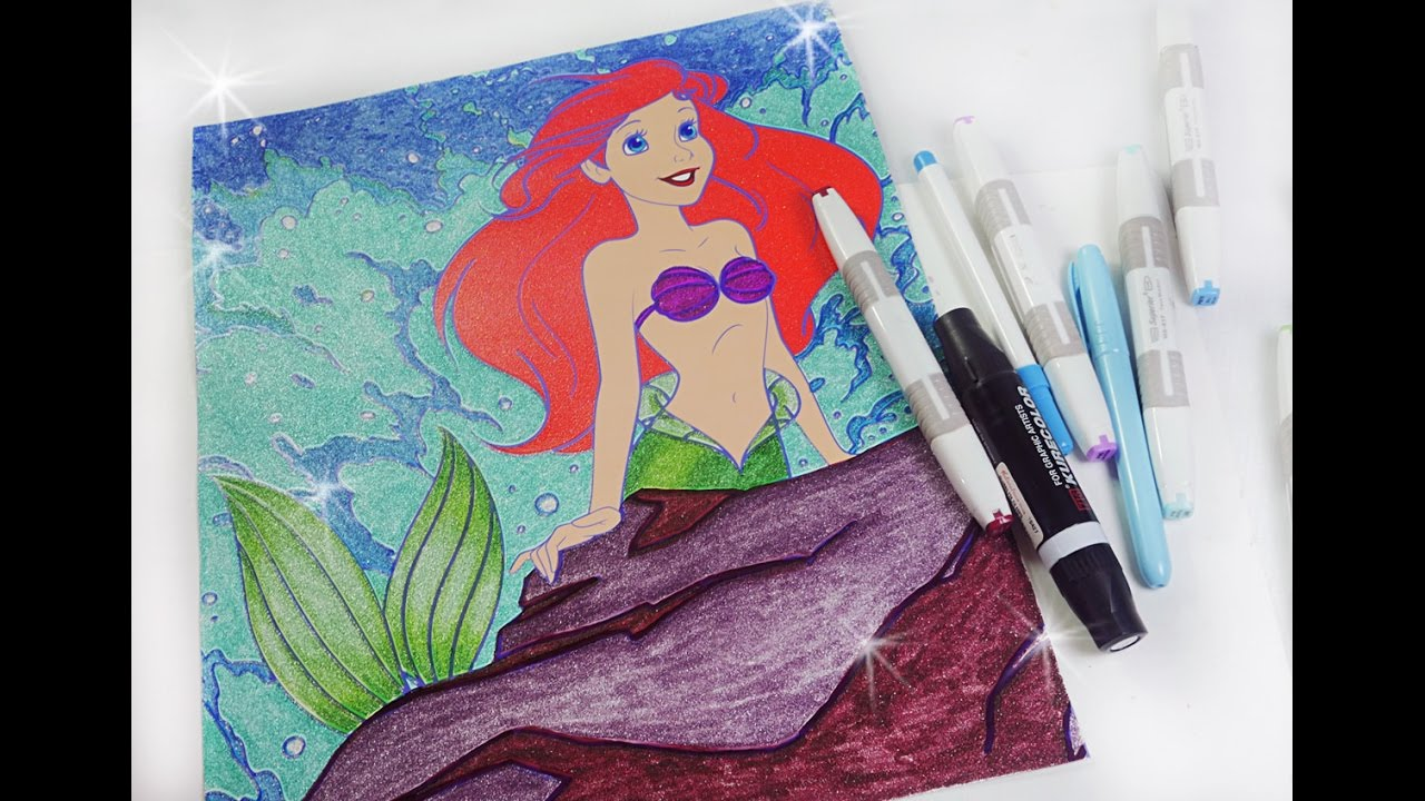 ariel coloring page disney princess coloring book youtube