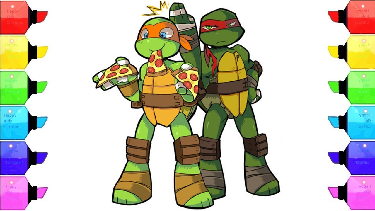 How to draw Cute ninja turtles, Leonardo - YouTube   Baby Ninja Turtles Drawings