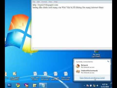 Hướng khắc phục lỗi mạng windows 7 sau khi gập máy - TrustShareVN