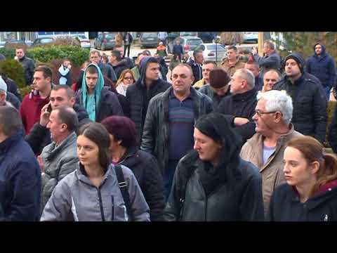 Vlasenica- Skup podrške uhapšenim pripadnicima VRS kadrovi 26 12 2017