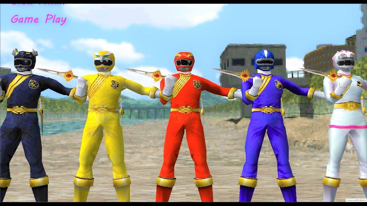 Sieu Nhan Game Play | 5 anh em siêu nhân gao đánh bại quái vật #1 | Game  Hyakujuu Sentai GaoRanger