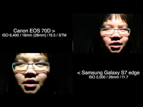 Dual Pixel AF Test #2 In the Dark Room : Samsung Galaxy S7 edge VS Canon EOS 70D