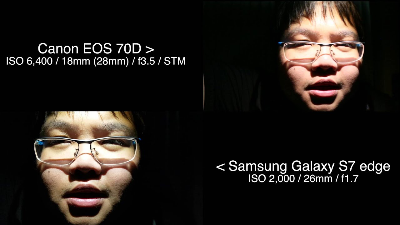 Dual Pixel AF Test 2 In the Dark Room Samsung Galaxy S7 edge VS Canon EOS 70D