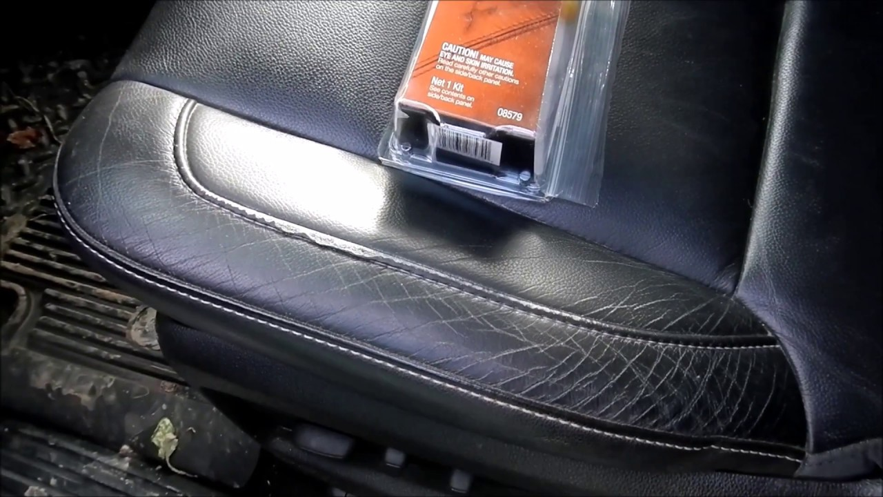 leather seat repair 3m leather and vinyl repair kit youtube. Black Bedroom Furniture Sets. Home Design Ideas