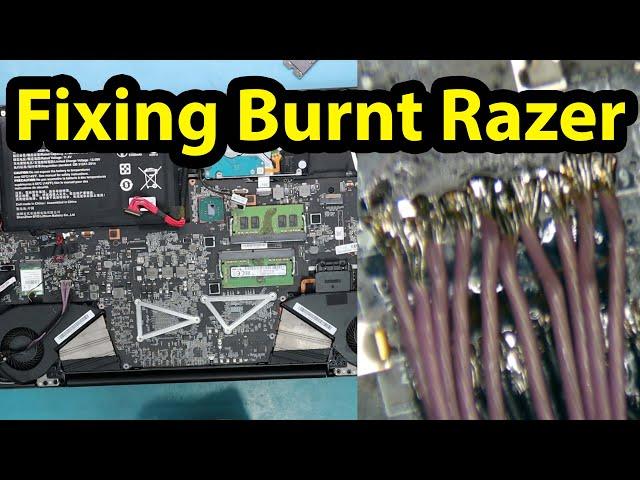 Fixing Burnt Razer Blade Pro DC Jack Motherboard connector