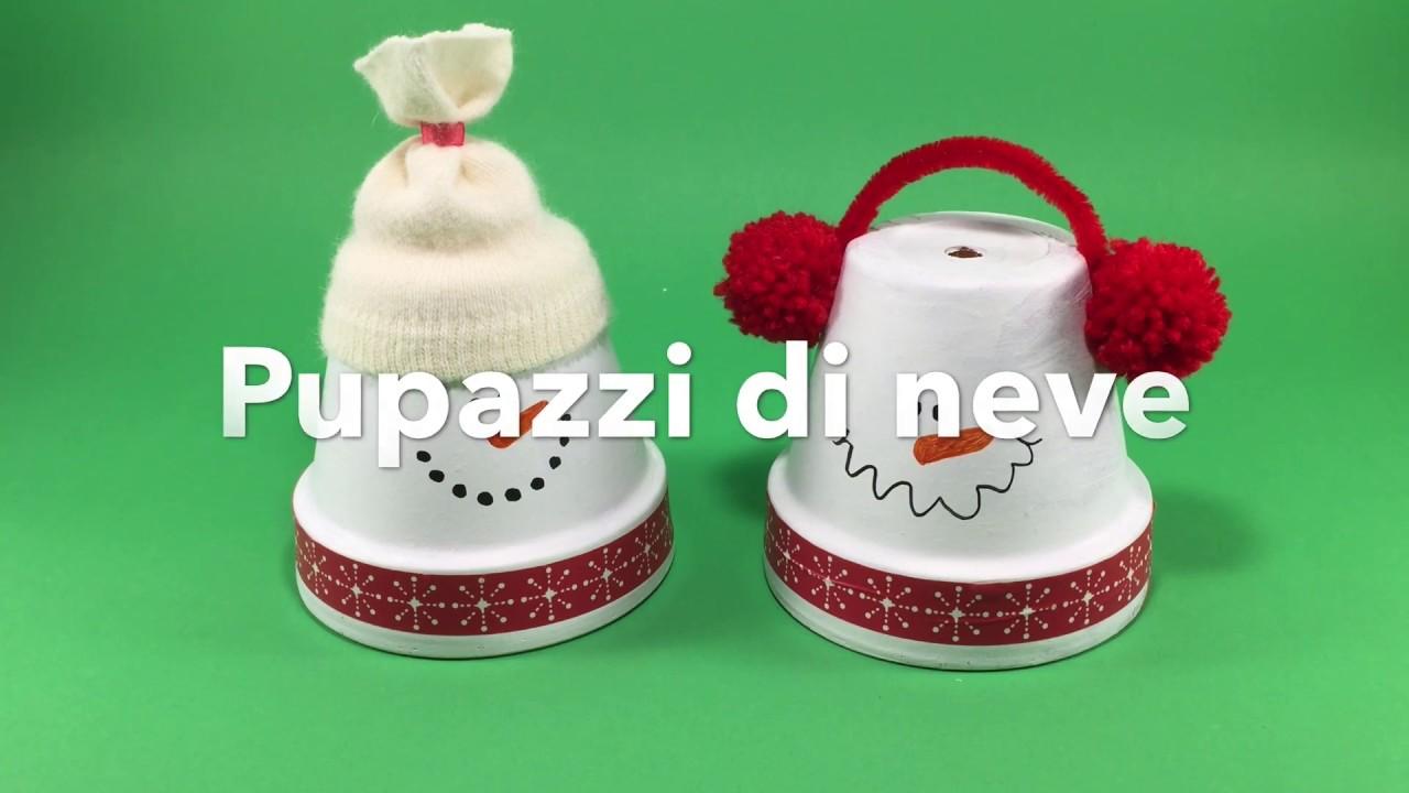 Decorazioni di natale fai da te pupazzi di neve con vasi terracotta riciclo creativo youtube - Vasi decorati fai da te ...